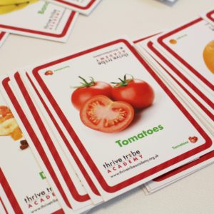 healthy schools food cards