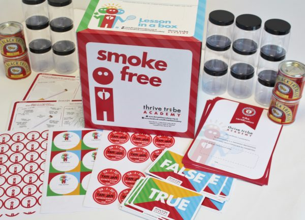 healthy schools smoking prevention chemicals in cigarettes box