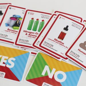 healthy schools smoking prevention chemicals in cigarettes cards