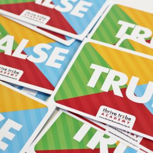healthy schools smoking prevention true & false cards